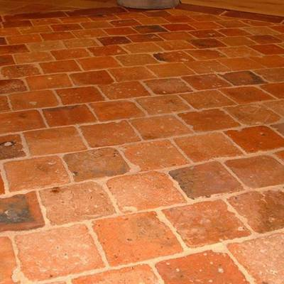 Floor tiles from cut bricks 12