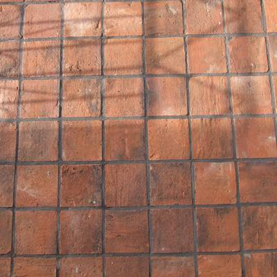 Floor tiles from cut bricks 6
