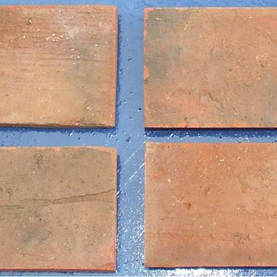 Floor tiles from cut bricks 8